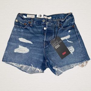 Levi's Premium High Rise Wedgie Shorts